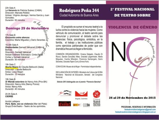 secundo festival violencia de genero