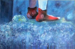 Jonas il menestrello - (piedi) - olio su tela di lino - cm 48 x 74